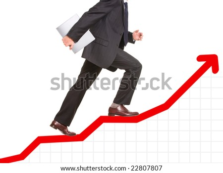 Conceptual image of  business progress or growth - stock photo