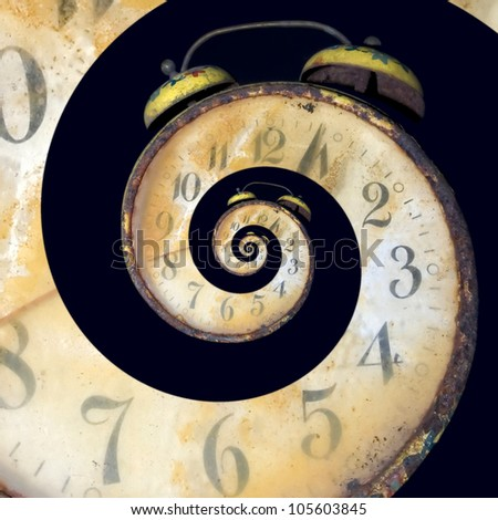 Conceptual Image of Endless Time Passing - stock photo