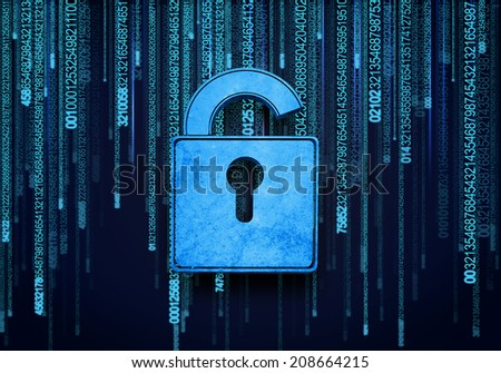 Conceptual image of micro circuit. Security concept - stock photo