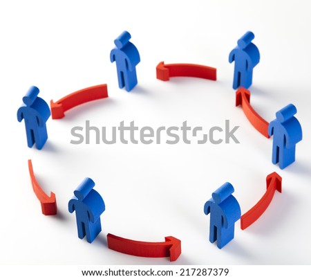 Conceptual image of teamwork