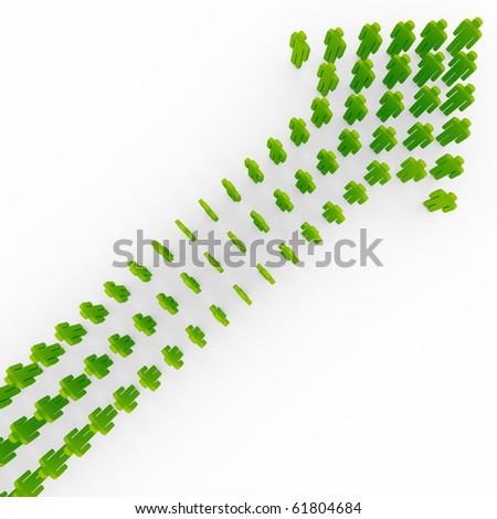 Conceptual image of teamwork - stock photo