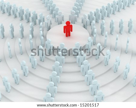 Conceptual image of teamwork. 3D image. - stock photo