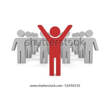 Conceptual image of teamwork. 3d image. - stock photo