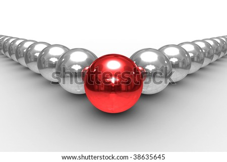 Conceptual image of teamwork. Isolated 3D image. - stock photo