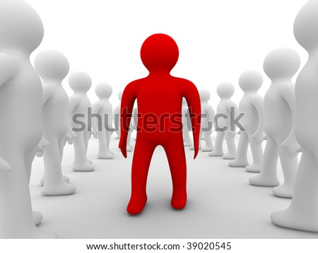 Conceptual image of teamwork. Isolated 3D image - stock photo