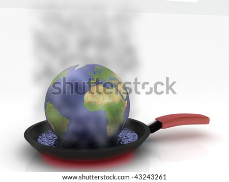 Conceptual image of the global warming problem - stock photo