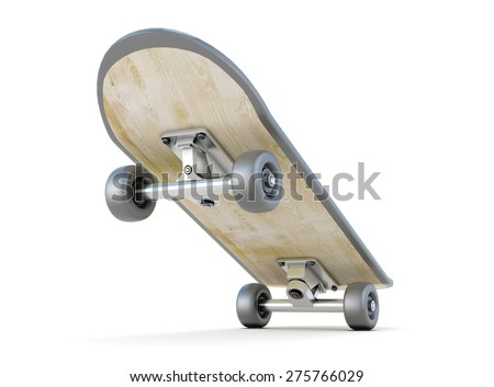 Conceptual image of the starting board isolated on white background. 3d illustration. - stock photo