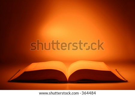Conceptual Image: Open Book - stock photo