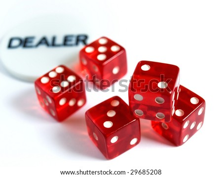 Conceptual image represent occupations or career in gambling or risk in  investment world.