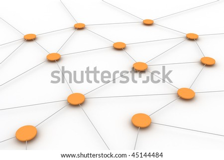 Conceptual image representing networking, connections, www,... - stock photo