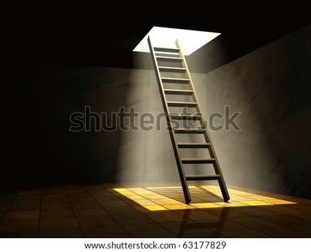 Conceptual image - way to freedom - stock photo