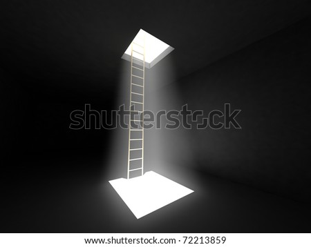 Conceptual image - way to freedom