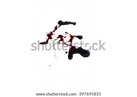 Conceptual image with blood on it resting on tiles on the floor