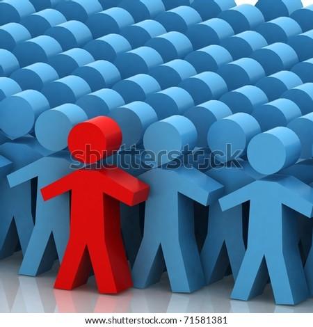 Conceptual leadership concept - stock photo