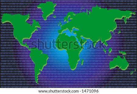 Conceptual Map - Binary Code - stock photo