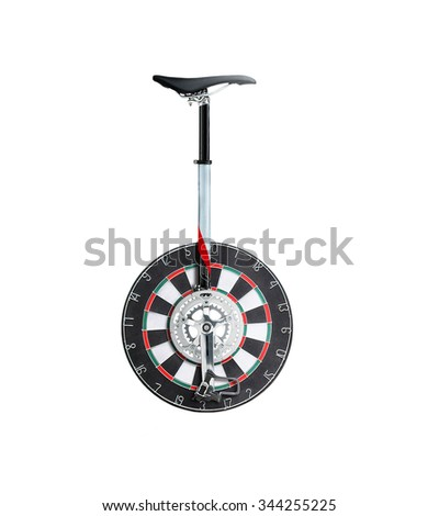 Conceptual Moving Target  - stock photo