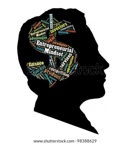 Conceptual of Entrepreneurial Mindset - stock photo
