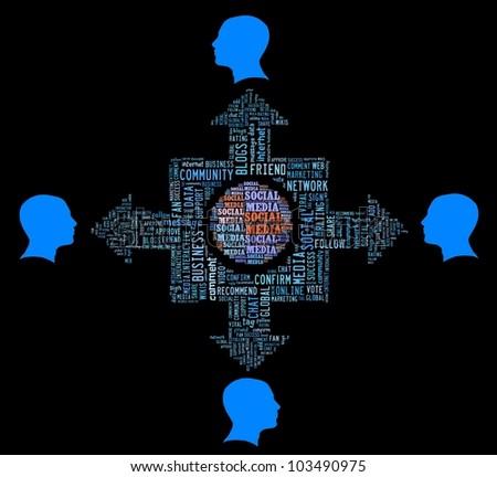 Conceptual of Social Media - stock photo