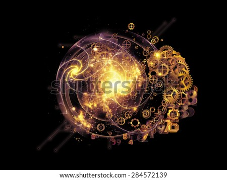 Conceptual Particle series. Abstract design made of fractal and conceptual elements on the subject of science, information technology and design - stock photo