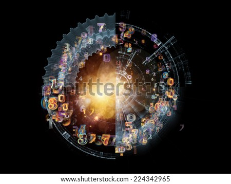 Conceptual Particle series. Backdrop of fractal and conceptual elements on the subject of science, information technology and design - stock photo