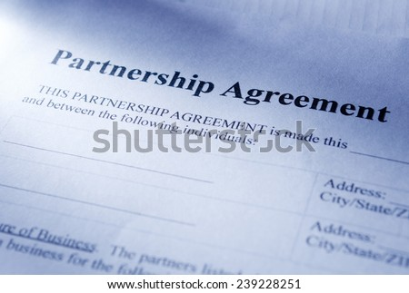Conceptual Partnership Agreement Paper, Emphasizing the Heading Part.