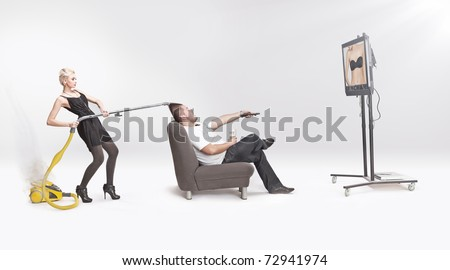 Conceptual photo of a responsibilities at home - stock photo