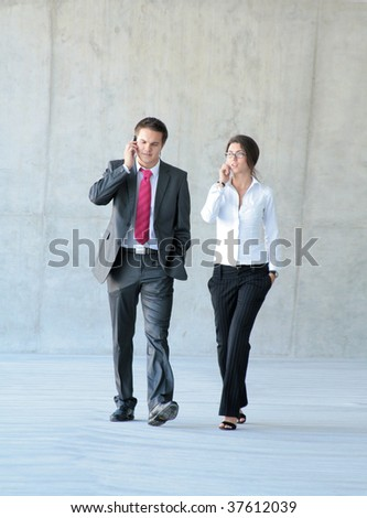 Conceptual photo of business couple - stock photo