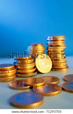 Conceptual  photo of money, with rich colors and lighting. Great for finance, business and economy themes. - stock photo