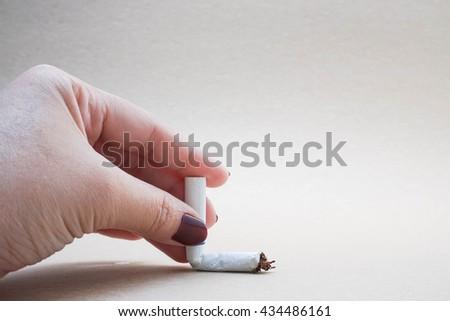 conceptual photo of smoking ban - stock photo