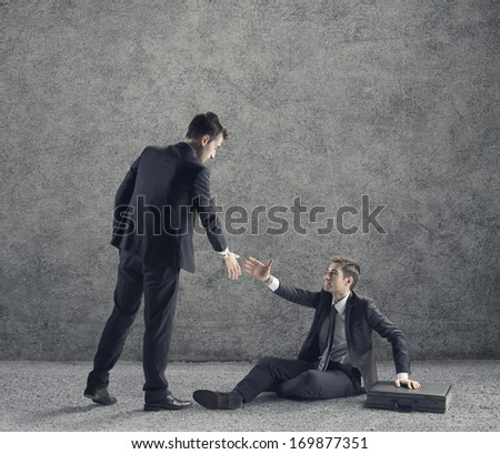 Conceptual photo relating to helping a business or person in need of help. - stock photo