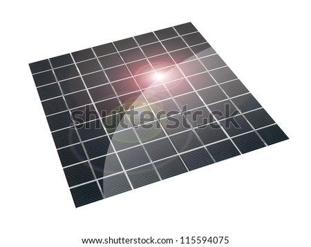 Conceptual renewable images isolated against a white background - stock photo