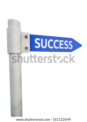 Conceptual road sign leading to business success