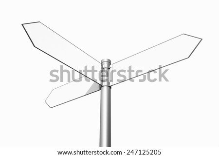 Conceptual signpost, which direction to take? - stock photo