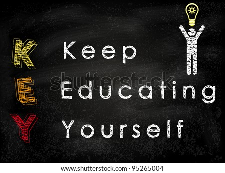 Conceptual SMARTER Goals acronym on black chalkboard (Specific, Measurable, Achievable, Realistic, Timely, Ethical, Reasonable) - stock photo