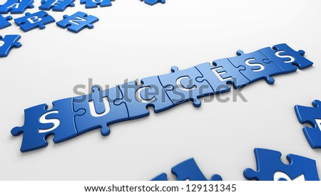 conceptual success - stock photo