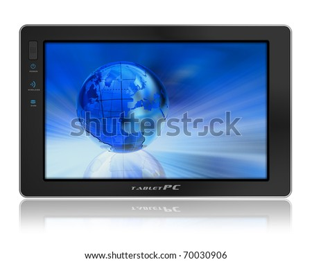 Conceptual tablet PC - stock photo