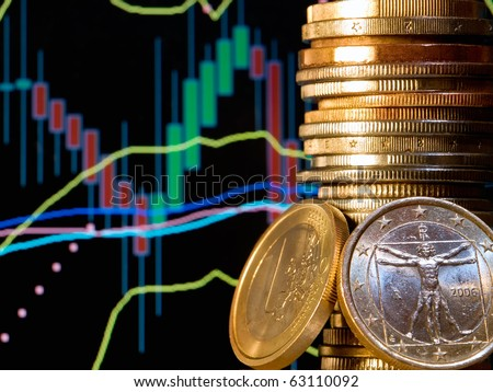 Conceptual view of the foreign exchange market known as Forex. - stock photo
