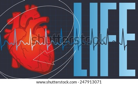 Concern for the health of their heart - stock photo