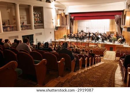 concert auditorium - stock photo