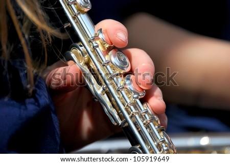 Concert flute - stock photo