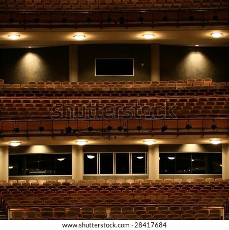 Concert hall, amphitheater and balcony - stock photo