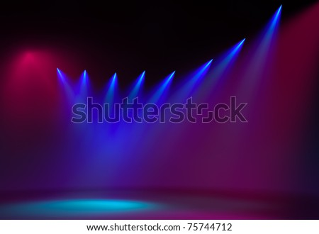 Concert light - stock photo
