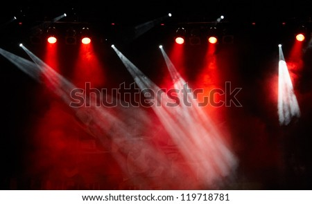 concert light show, Stage lights - stock photo