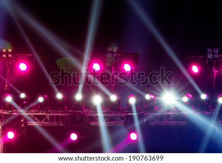 concert lighting against a dark background from the stage
