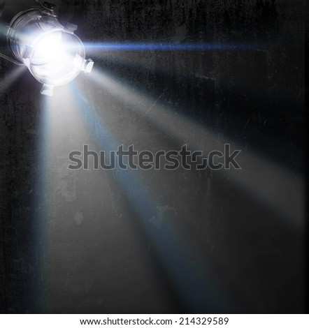 concert lighting against a dark background ilustration  - stock photo