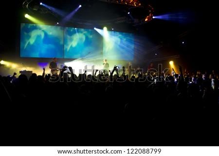 concert people crowd - stock photo