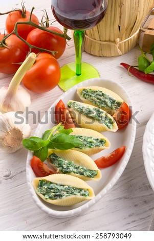 Conchiglioni - stock photo