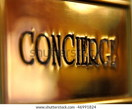 Concierge sign - stock photo