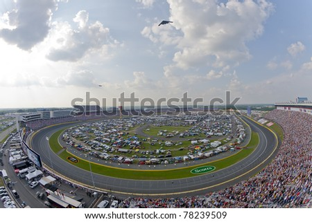 CONCORD, NC - MAY 29, 2011:  Charlotte Motor Speedway plays host to the Coca-Cola 600 race in Concord, NC on May 29, 2011. - stock photo