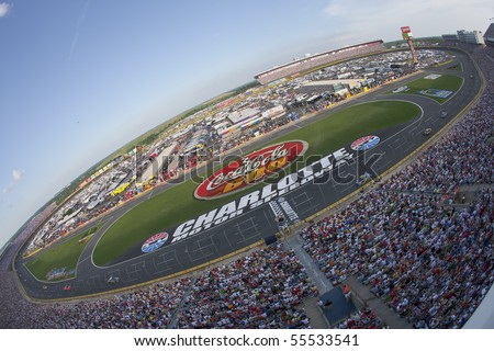 CONCORD, NC - MAY 30:  Charlotte Motor Speedway plays host to the longest NASCAR Sprint Cup race of the season for the running of the Coca-Cola 600 on May 30, 2010 in Concord, NC. - stock photo
